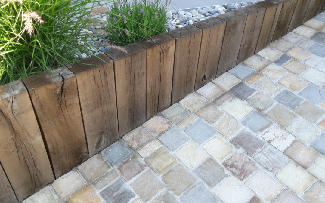 Landscaping ideas with a natural stone driveway